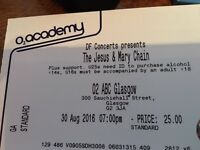 The Jesus & Mary Chain O2 ABC Glasgow. 30 August. Standing.