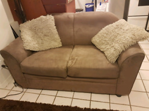 Brown 2 seat couch with matching chair!
