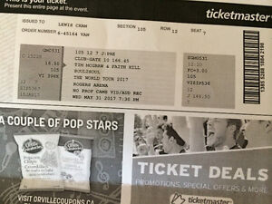2 Tim McGraw & Faith Hill Tickets