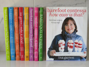 Collection of 9 Ina Garten BAREFOOT CONTESSA Hardcover Cookbooks