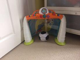Indoor kids football and goal