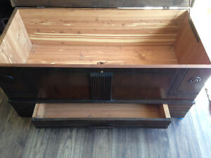 Older Wooden trunk (coffee table)