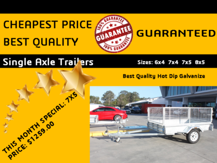 7x5 Box Trailer Just for $1299