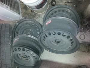 05 -18 honda civic steel rims no tires