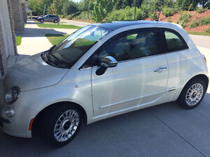 2014 Fiat 500 Lounge Coupe - White & Red Leather Trim