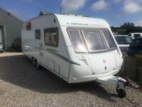 2007 ABBEY CARDINAL 600 6 BERTH TWIN AXLE TOURING CARAVAN