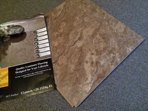 Tongue and groove laminate tiles