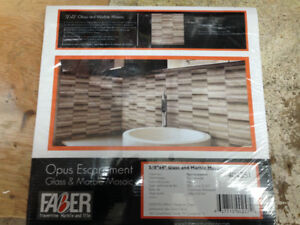 Faber glass and marble tile