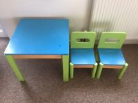 ikea child's table and chair