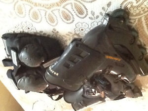 Size 9 Roller Blades and equipment