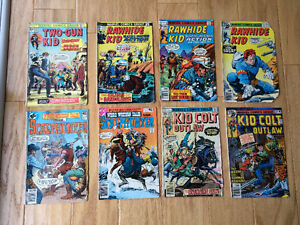 Western Comics (1975-80) Rawhide Kid, Kid Colt Outlaw, etc
