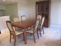 Vintage Solid Wood Dining Room Suite with Protector Pad