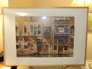 BALCONIES ON THE GRAND CANAL IN VENICE,..40'' x 28.5'' IKEA Kitchener / Waterloo Kitchener Area image 2