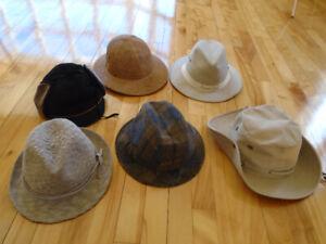 7 chapeau pour hommes + + foulard soie laine  + cravate Mickey