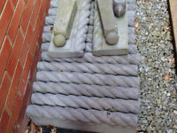 Rope Top Lawn/Path Edging. Charcoal Grey Colour, Total of 16. Size 460mm X 150mm