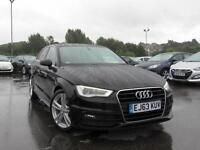 2013 AUDI A3 1.6 TDI S Line S Tronic Auto Sat Nav GBP720 Of Extras Leather