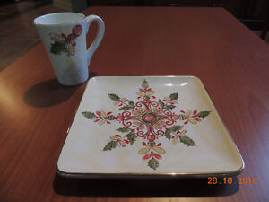 Park Designs - Snowflake Scroll Dessert Plates and Mugs London Ontario image 1