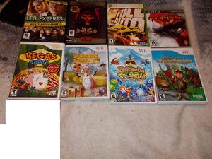 8 Jeux de Wii, ps3, pc, Xbox 360 pour 30$