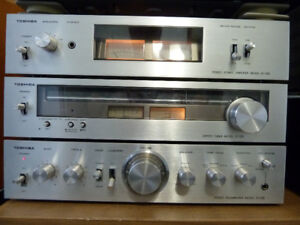 Toshiba power amp, pre-amp and tuner $200