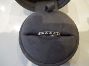 VERA WANG DIAMOND AND SAPPHIRE BAND PRICED TO SELL(PICK UP)