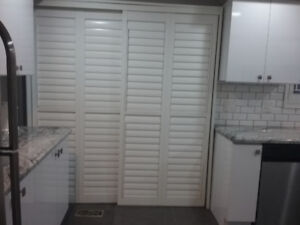 California shutters for patio or french doors