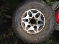 Mitsubishi l200/shogun alloys with tyres