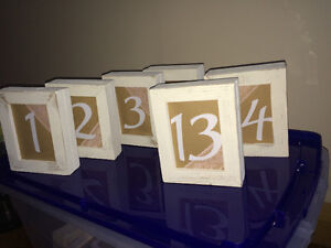 Table numbers - wedding