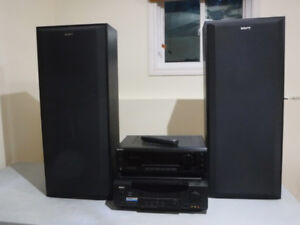 SONY STEREO SYSTEM W/AUDIO VIDEO CONTROL CENTER, 200.00 OBO