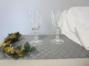 Pinwheel crystal wine glasses