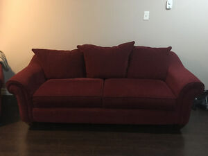 beautiful red couch