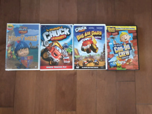 Chuck the Truck, Mike the Knight, Bob the Builder DVDs