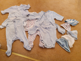 New baby and 0 to 3 mothercare blue bundle