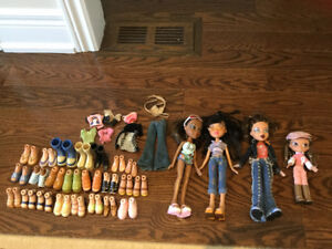 LIL BRATZ dolls with a lot of clothes and shoes