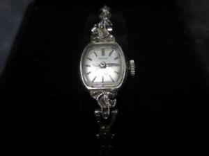 Vintage Ladies White Gold Swiss Watch