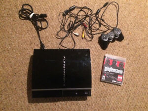 160gb PS3 with 1 controller and game