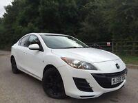 Mazda mazda3 diesel 1.6 pearl white tax £30 ayear