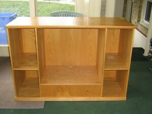 Oak entertainment cabinet
