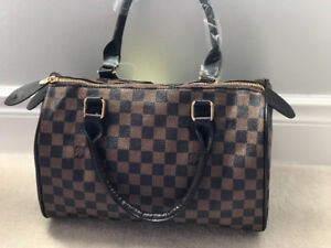 Louis Vuitton damier brown and white