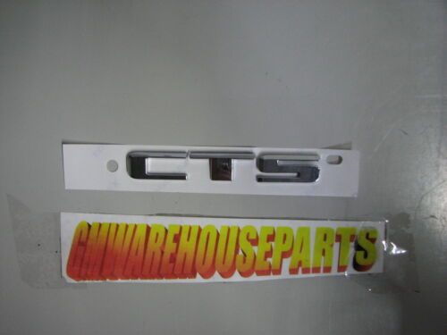 "CHROME CADILLAC /""CTS/"" TRUNK EMBLEM 2008-2009 NEW OEM  15263153"