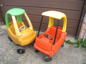 2 Used Little Tikes Floor-to-floor Ride-on Cars, $15 for EACH