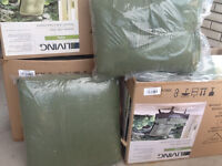NEW PATIO CUSHIONS SET OF 6
