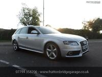 AUDI A4 AVANT TDI S LINE Auto Estate Very Low Miles Full Audi History, Silver, A