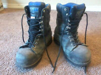 Winter steel toed safety boots - as new