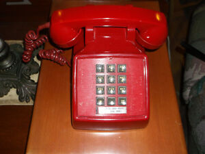 TELEPHONE RED TOUCH TONE