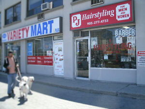 BarberShop/Hairstyling Salon in Central Mississauga