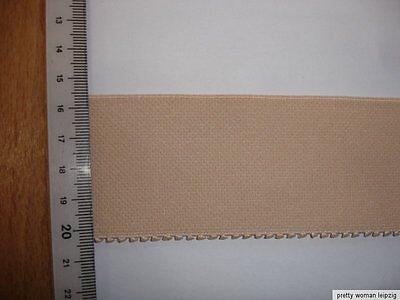 5m Gummiband  0,70€/m Bündchen Gürtel  beige 5cm breit MN59