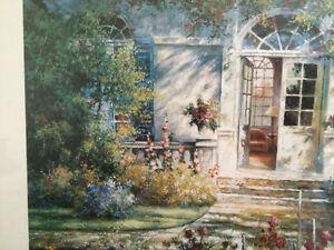 "Collectible Antique ""The Open Door"" Framed Print By Tan Chun London Ontario image 9"