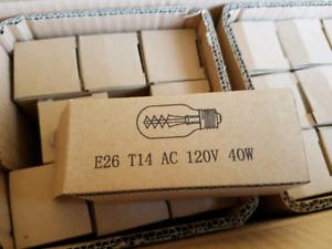 Vintage E26 T14 light bulbs 40W