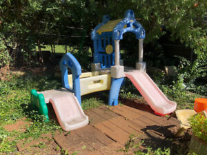 Child's outdoor play Center / climb, slide fun