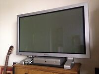 40 inch TV with Floor standing Surround Sound Speakers